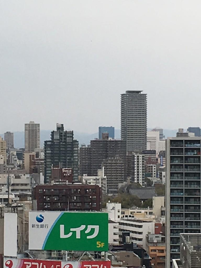 大阪城と四天王寺とあべのハルカスを歩きました。