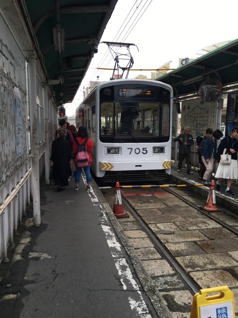 阪堺電車に乗って住吉大社に観光に行きました。