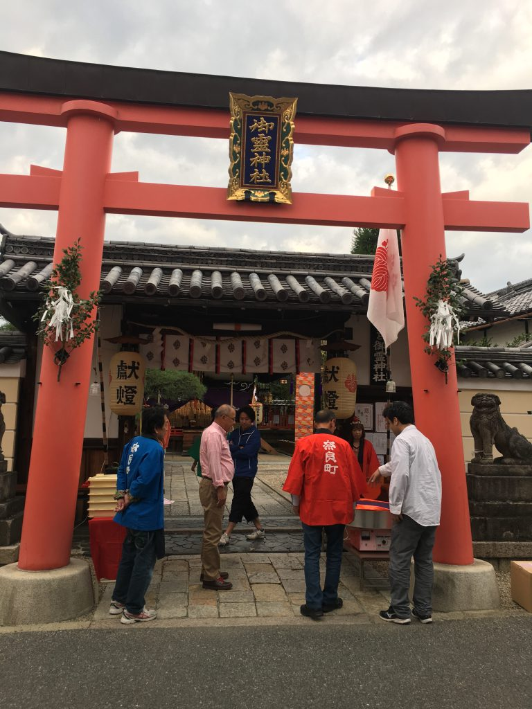ならまちの氏神神社御霊神社の秋季大祭宵宮は10月12日
