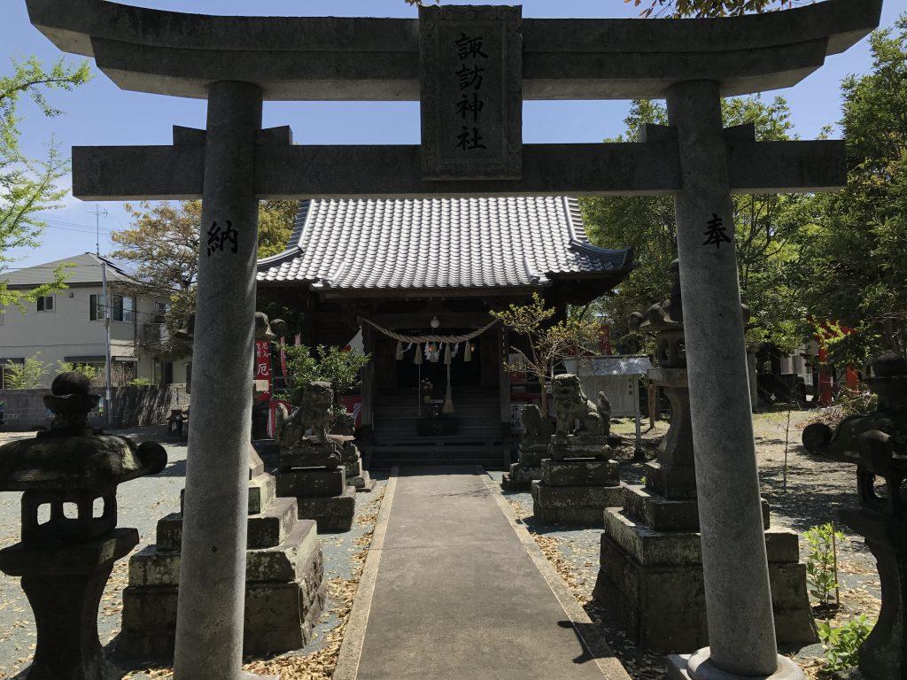 久留米の諏訪神社を訪ねました。不思議なご縁の連続