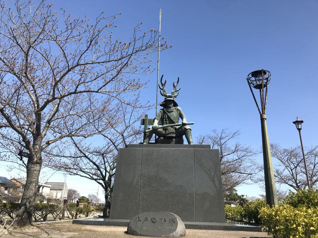 桑名城の天守址・石垣や駐車場と九華公園について