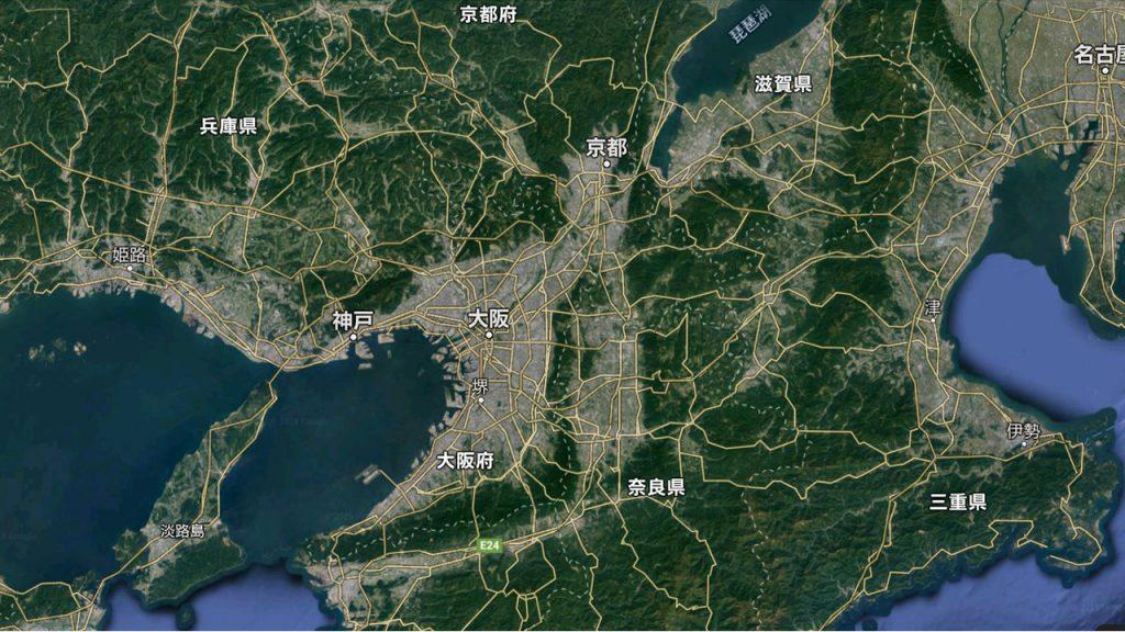 江戸時代の地域経済力の推移(石高)・・近畿偏